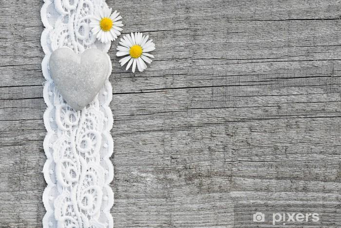 Herz & Blumen im Landhausstil Pixerstick Sticker - Styles