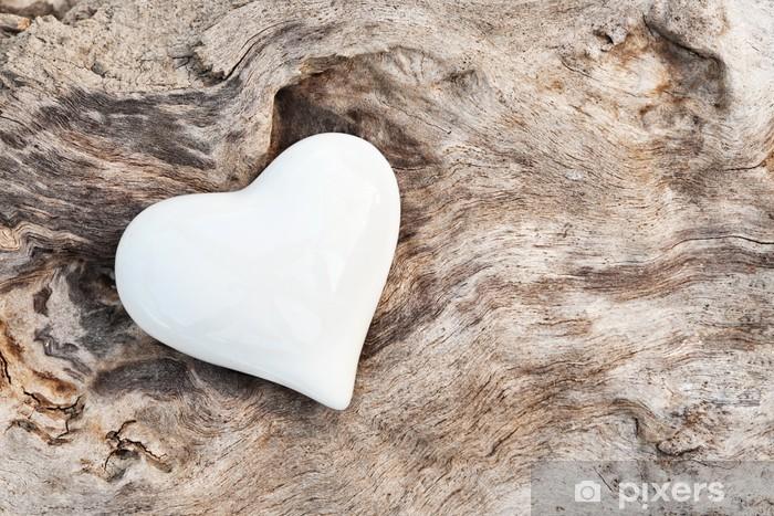 Weißes Herz Pixerstick Sticker - Styles