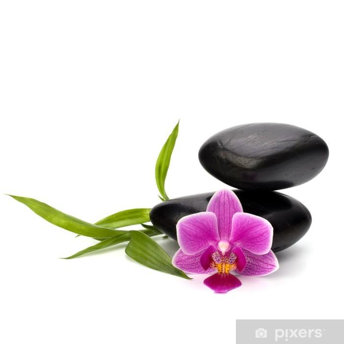 Sticker Pixerstick Zen équilibre de cailloux. Spa et le concept de soins de santé. - Beauté et soins du corps