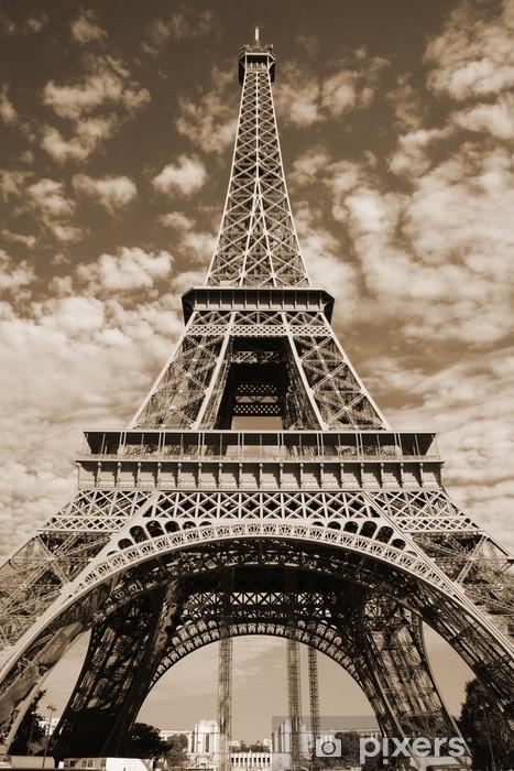 Sticker Pixerstick Sépia Tour Eiffel - Thèmes