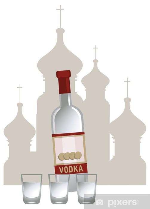 Naklejka Pixerstick Russian vodka - Azja