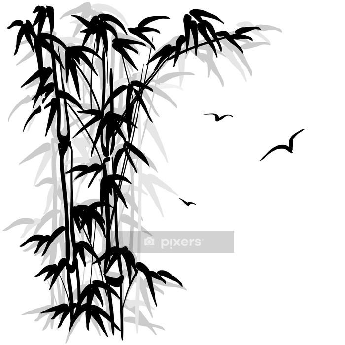 Naklejka na ścianę Bamboo sylwetka - Inne uczucia