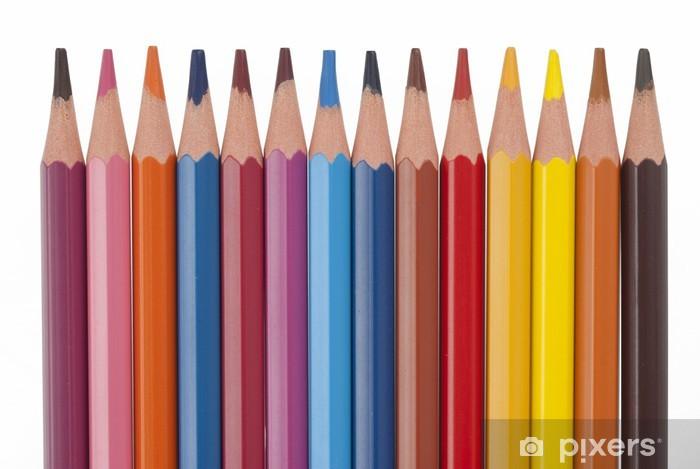 Sticker Pixerstick Crayons de couleur - Art et création