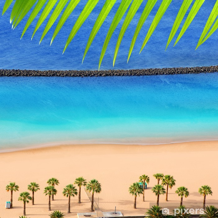 Plakát Pláž Teresitas v Santa Cruz de Tenerife sever - Prázdniny