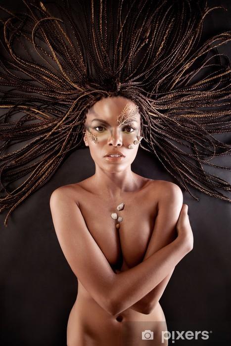 africké americké nahé modely