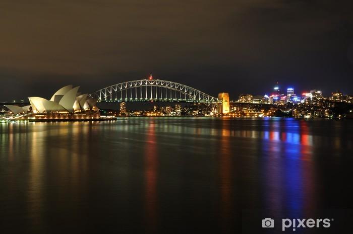 Naklejka Pixerstick Sydney Harbour w nocy - Tematy