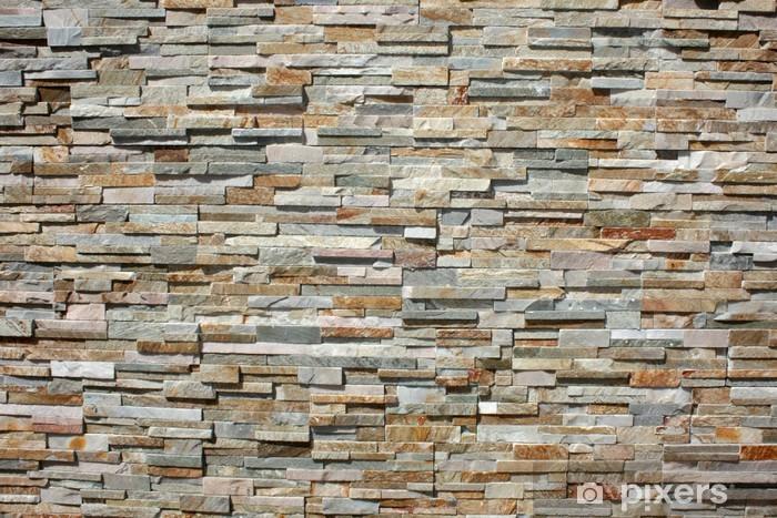 Fotomural Autoadhesivo Stacked muro de piedra - Industria pesada