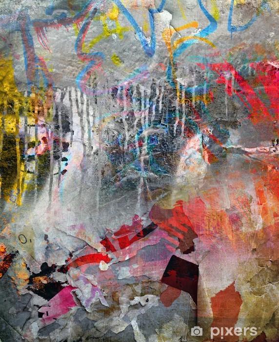 50746df9 Fototapet av vinyl Art grunge bakgrunn, fargerik illustrasjon - Destinations