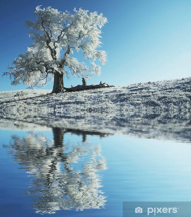 Yksin jäätynyt puu Vinyyli valokuvatapetti - Styles