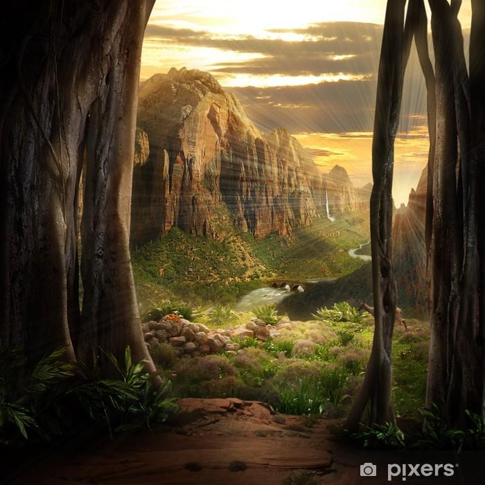 Naklejka Pixerstick Fantazja krajobraz - Tematy