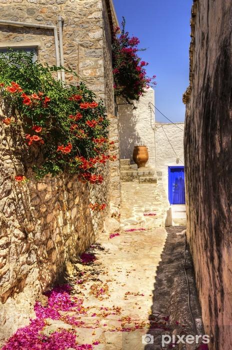 Fototapeta zmywalna Grecka wyspa alley - Tematy