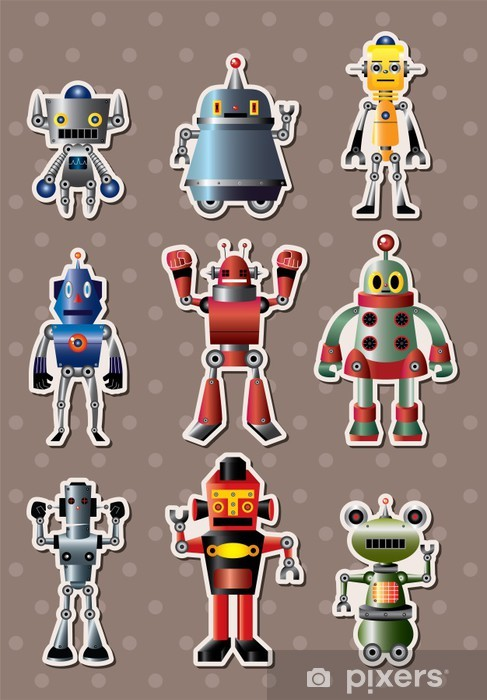 Naklejka Pixerstick Sticers robota cartoon -