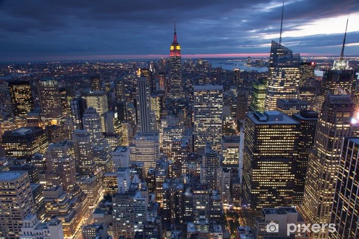 Evening view of New York city, USA Pixerstick Sticker -