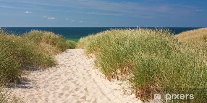 Sticker Pixerstick Aller à la plage à travers les dunes de Sylt à Kampen en mer du Nord - Allemagne