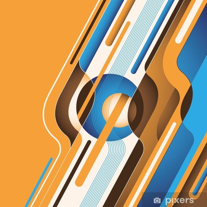 Poster Bunte digitale Abstraktion. - Vorlagen