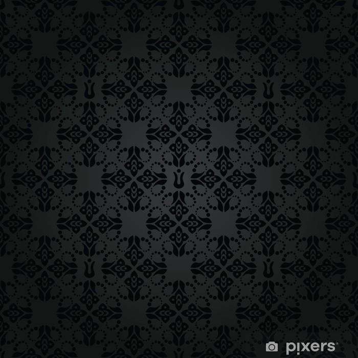 Papier Peint Motif De Papier Peint Noir Petit Floral Elements