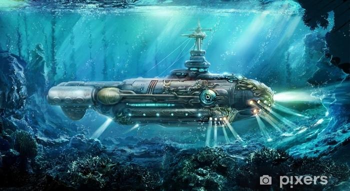 Naklejka Pixerstick Fantastyczna łódź podwodna - Styl życia