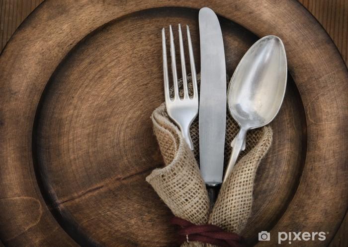 Vintage silverware Pixerstick Sticker - Themes