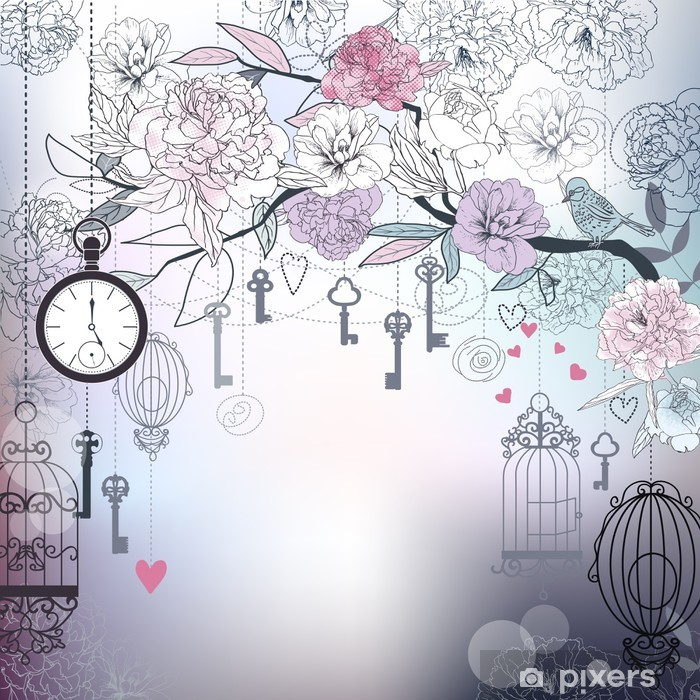 Poster Décorations en fleur au fond - Arrière plans