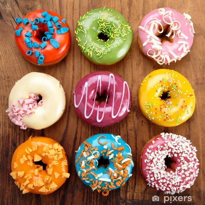 baked doughnuts Poster - Themes