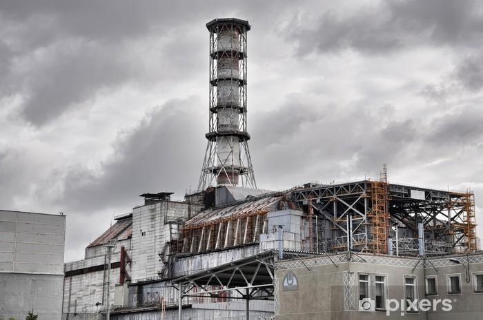 Papier peint vinyle Centrale nucléaire de Tchernobyl. vue de face. - Styles