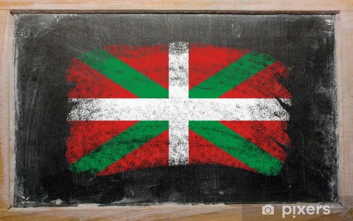 Fototapeta winylowa Baskijski flagi malowane na tablicy z kredą - Edukacja