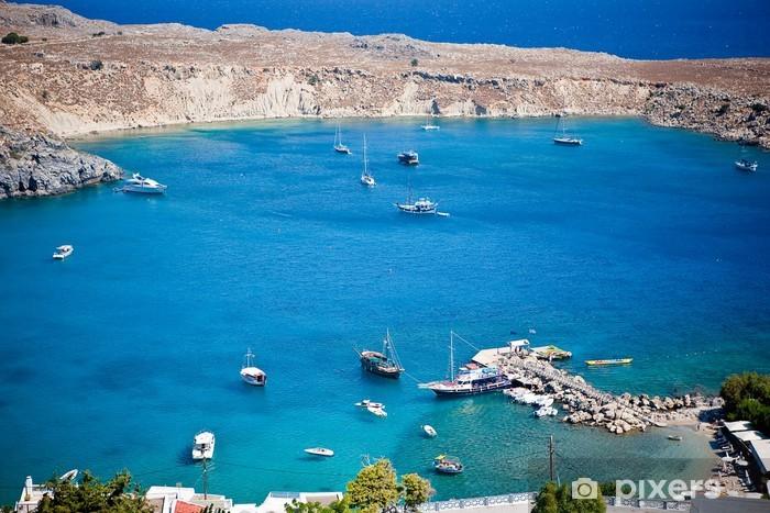 Naklejka Pixerstick Wyspy greckie - Rodos, Lindos Bay - Europa