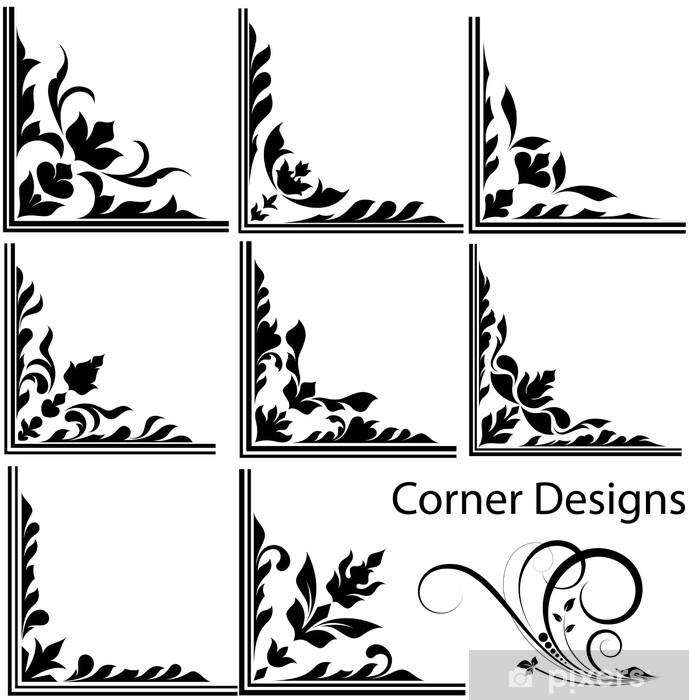 Naklejka Pixerstick Grafika Corner Designs - Znaki i symbole