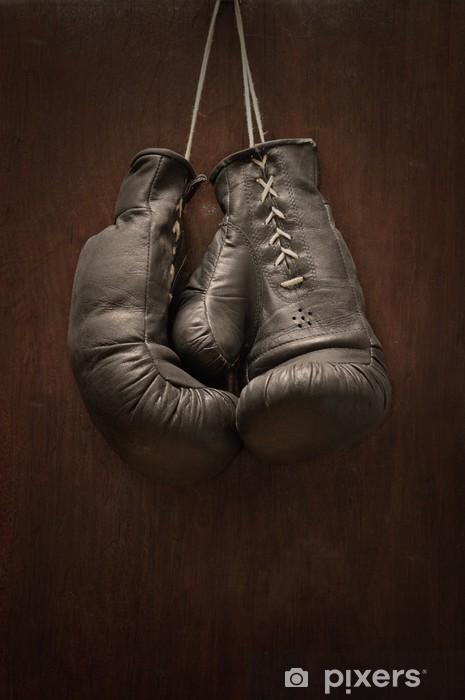 Papier peint vinyle Vieux gants de boxe - Thèmes