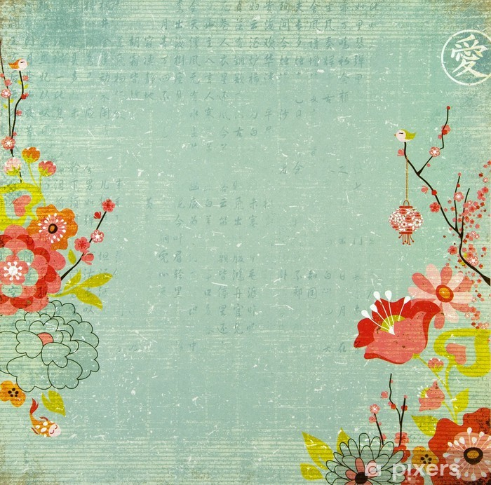 Chinese Lotus Flower Background Wall Mural Pixers We Live To Change