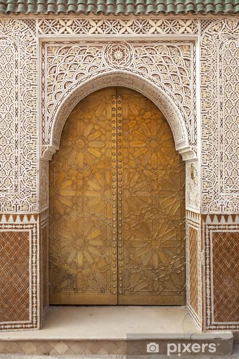 Vinilo para Nevera Latón decorado Puerta marroquí - Monumentos