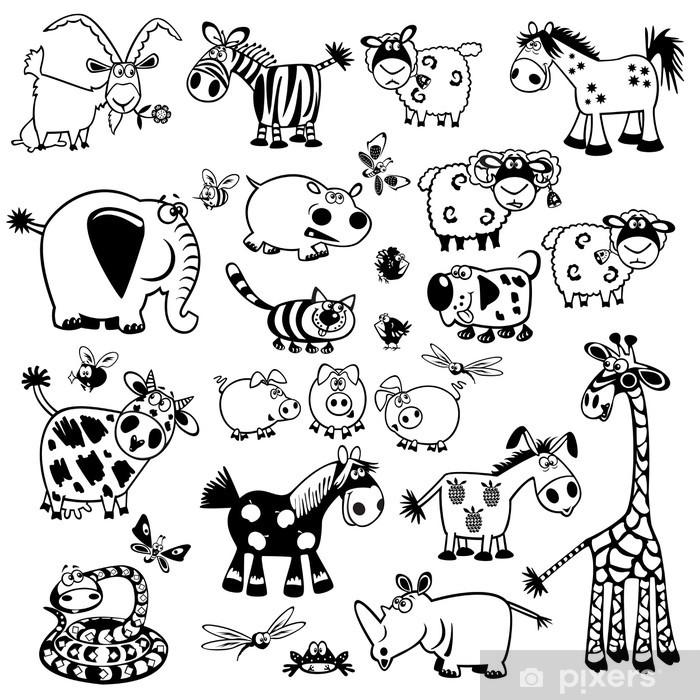 Childish Animals Sticker Pixers