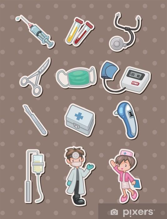Naklejka Pixerstick Naklejki szpitalne cartoon - Znaki i symbole