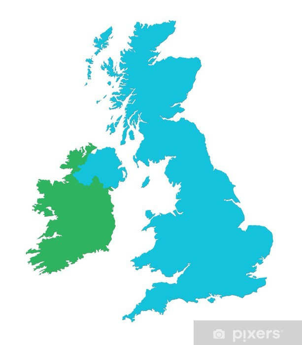 uk and ireland map wall mural • pixers® • we live to change