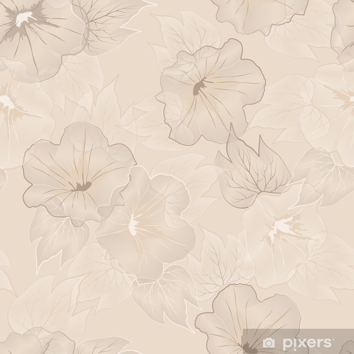 Papier peint vinyle Modèle sans couture floral de vecteur - Ressources graphiques