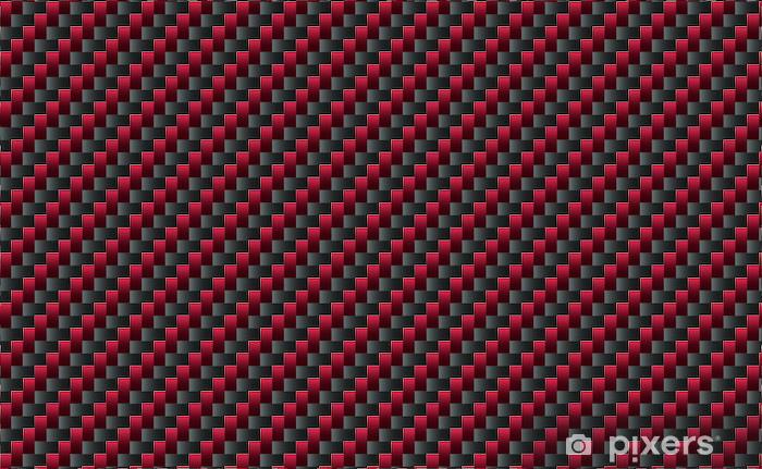 Red Carbon Fiber Pattern Wall Mural Pixers 174 We Live To