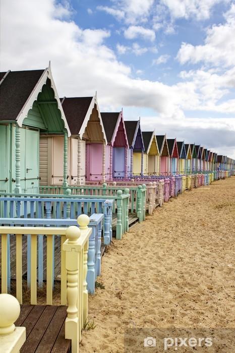 Naklejka Na Szybę I Okno Wiersz Kolorowe Plaży Domków Wiejskich Essex
