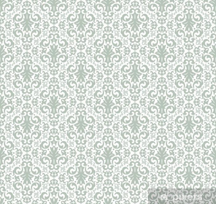 Damask seamless pattern vector Pixerstick Sticker - Graphic Resources