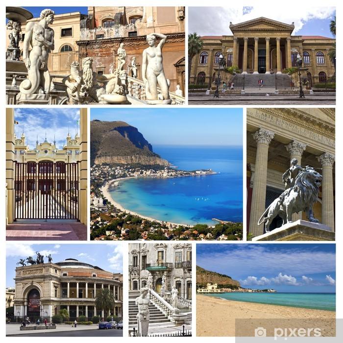 Carta Da Parati A Palermo.Carta Da Parati In Vinile Collage Palermo