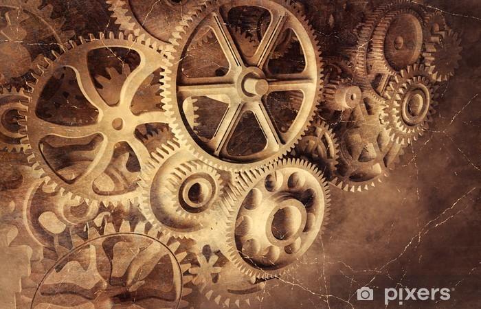 Sticker Pixerstick Gears - Horloges