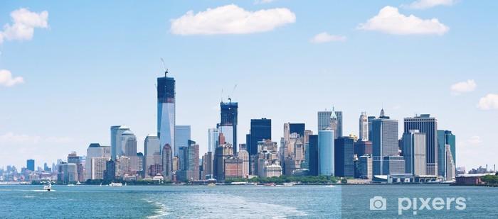 Vinyl-Fototapete Panorama-Bild der Skyline von Lower Manhattan. - Amerikanische Städte