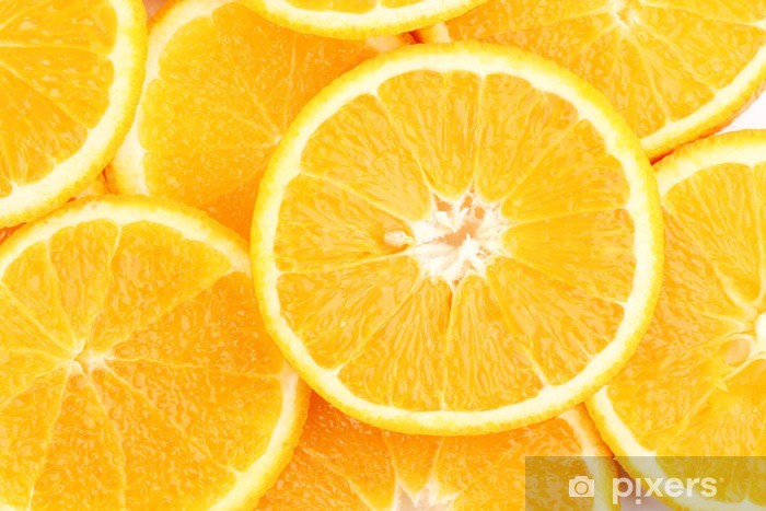 Oranges close up Pixerstick Sticker - Fruit