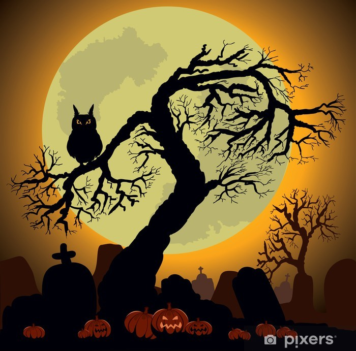 Papier peint vinyle Halloween Background - Mammifères