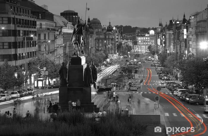 Fotomural Estándar La Plaza de Wenceslao, Praga - Praga