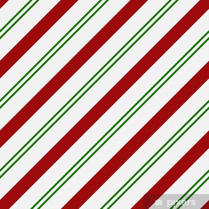Carta Da Parati Rosso Verde E Sfondo Bianco Tessuto A Righe