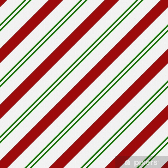 Red Green And White Striped Fabric Background Wall Mural Vinyl