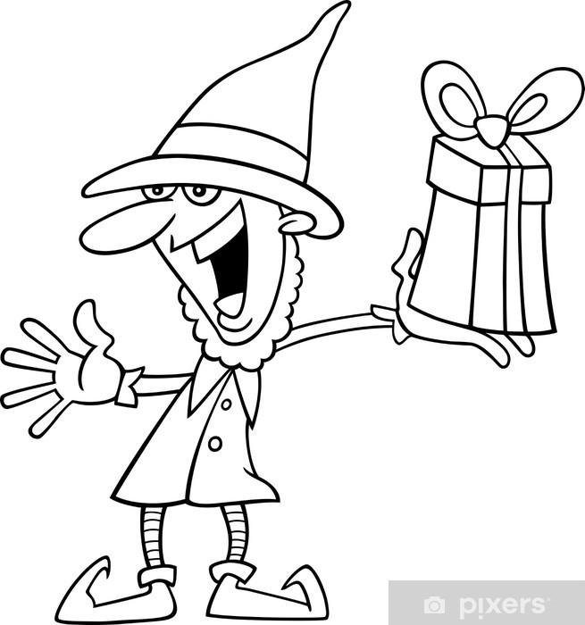Fototapeta Boże Narodzenie Elf Dla Kolorowanka Pixers żyjemy By