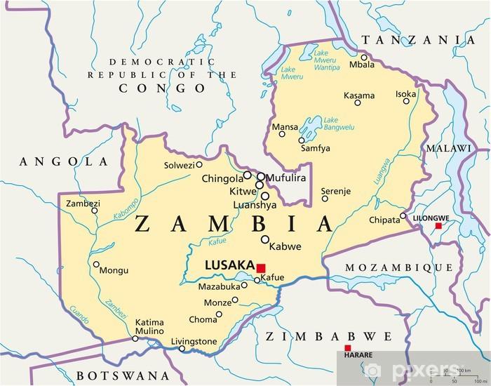 Zambia Kartta Sambia Landkarte Tapetti Pixers Elamme