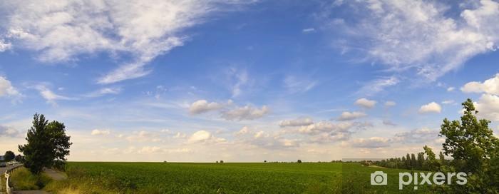 Sticker Pixerstick Photo panoramique des vignobles - Ciel