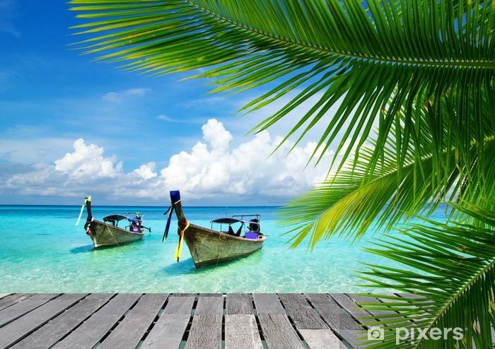Sticker Pixerstick Pont avec vue sur une mer tropicale - Bestsellers